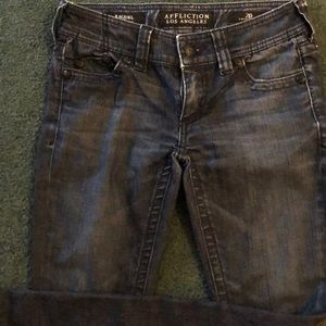 Affliction dark denim jeans Raquel 26 skinny jeans